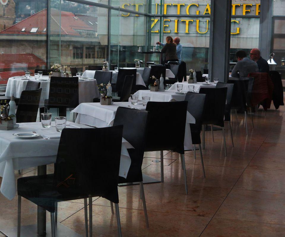 Business lunch in Stuttgart Germany