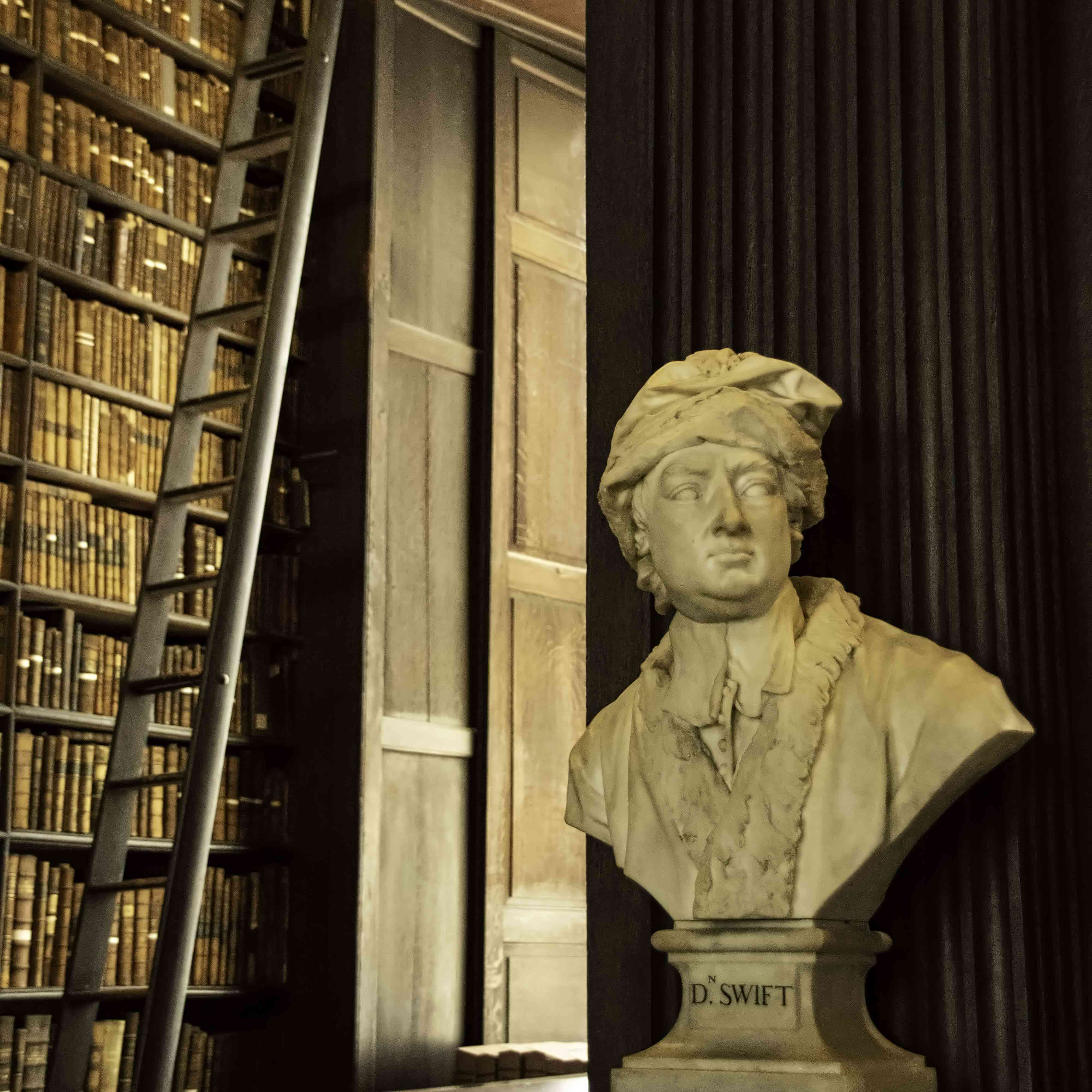 A library in Trinity College