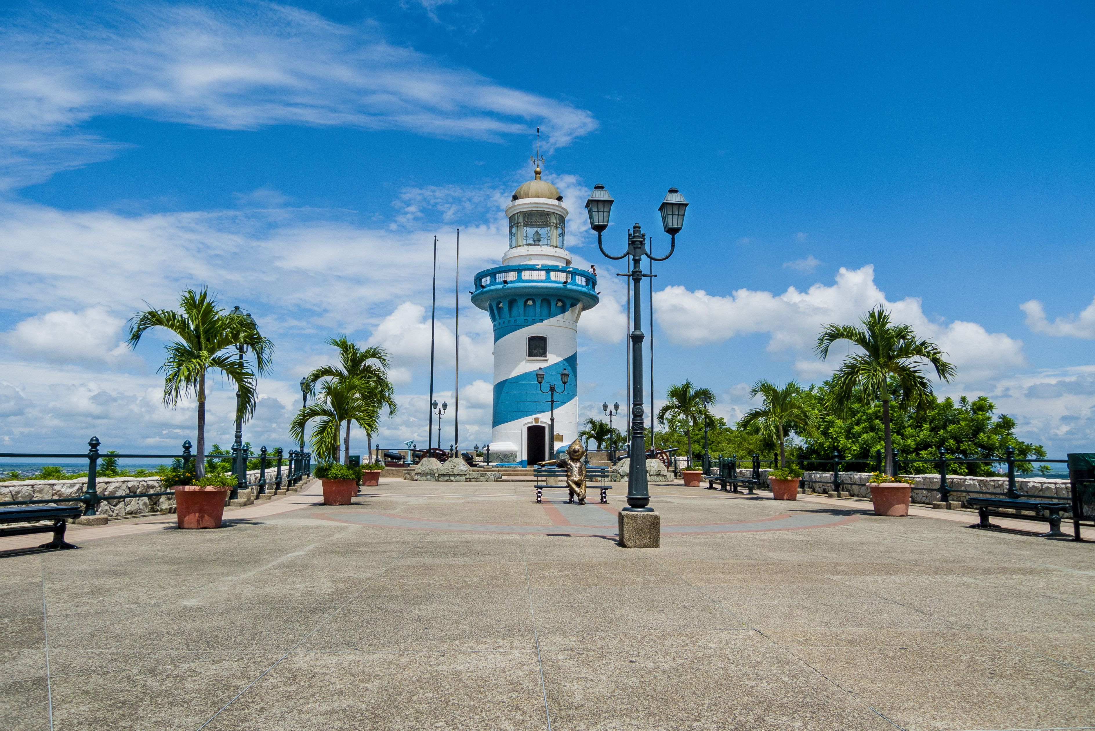 Lighthouse on a beach in Guayaquil