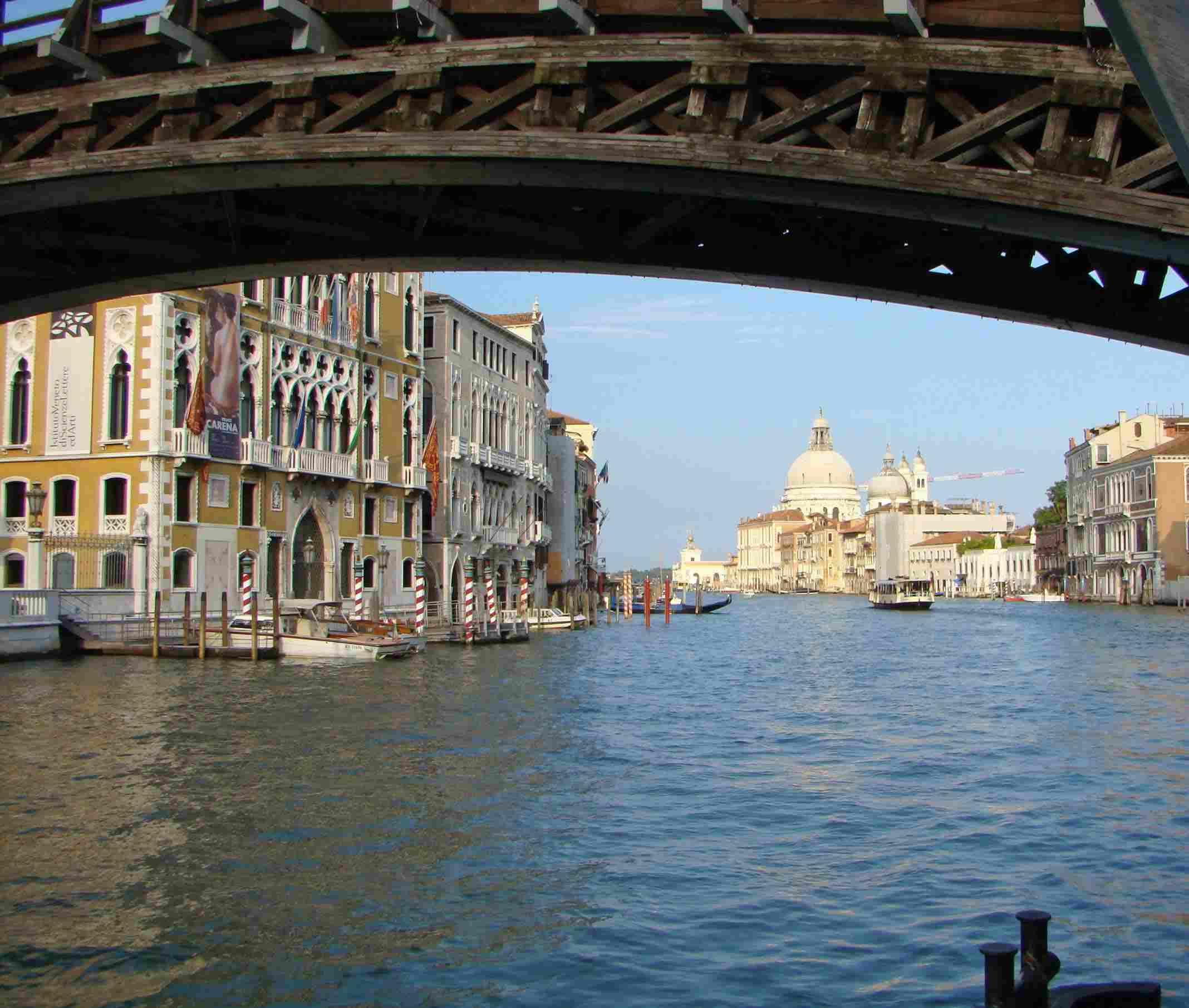 Vaporetto rides provide a cheap way to admire the architecture of Venice, Italy.