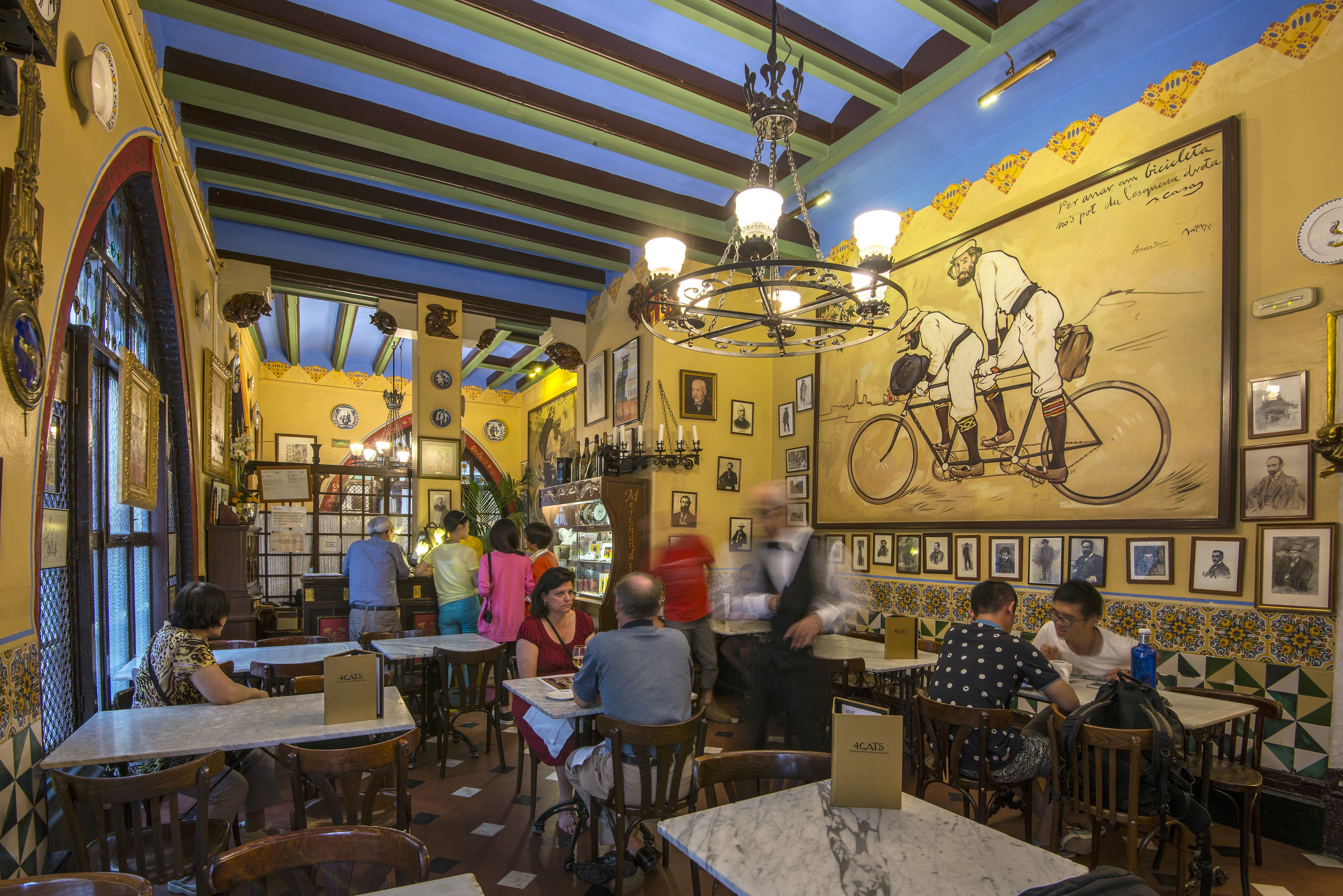 The Els Quatre Gats historical cafe restaurant, Barcelona, Catalonia, Spain
