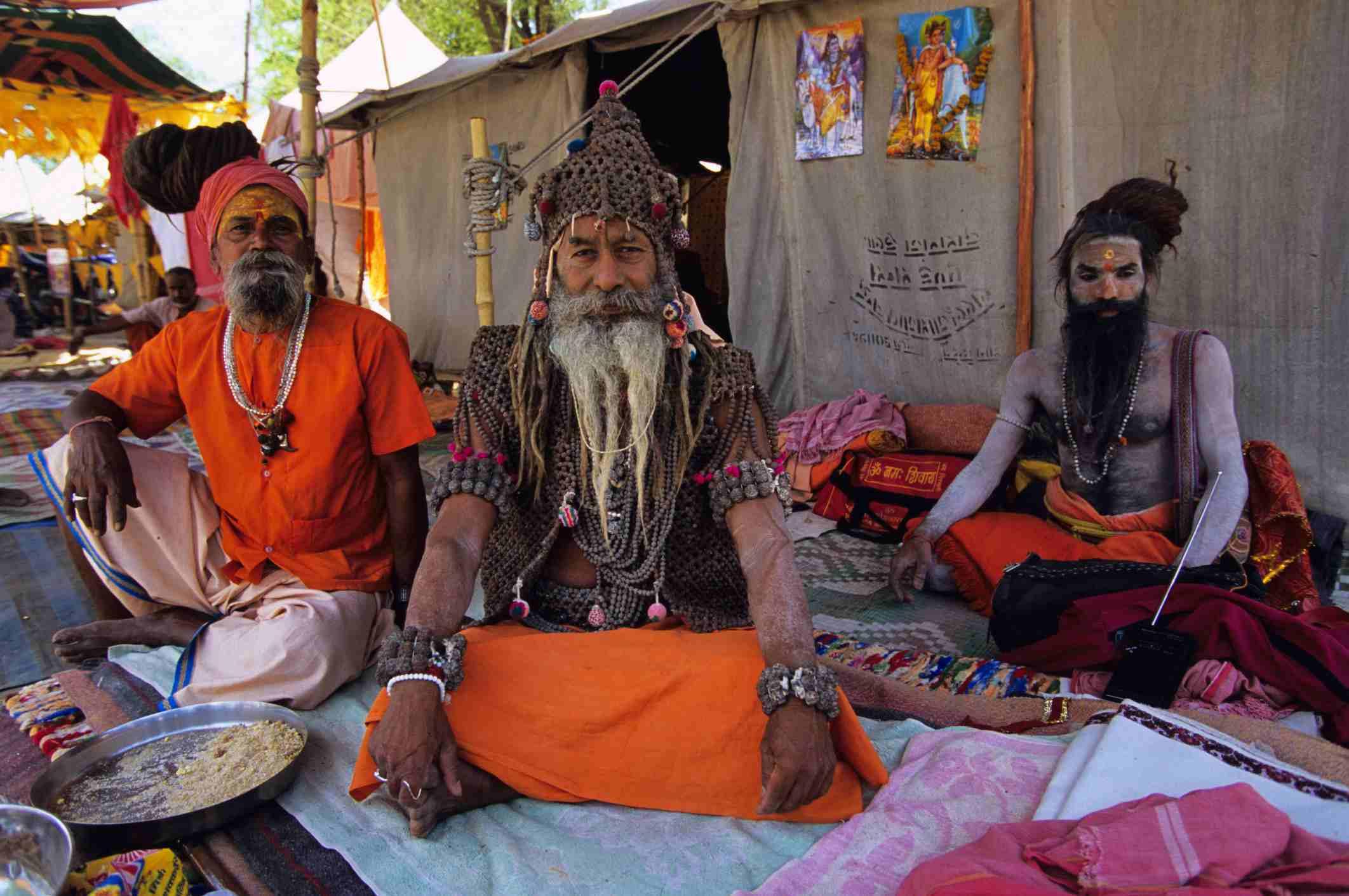 Sadhus at Kumbh Mela, Ujjain