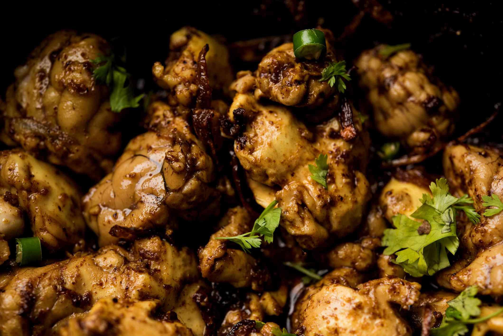 Bheja fry, fried goat brains.