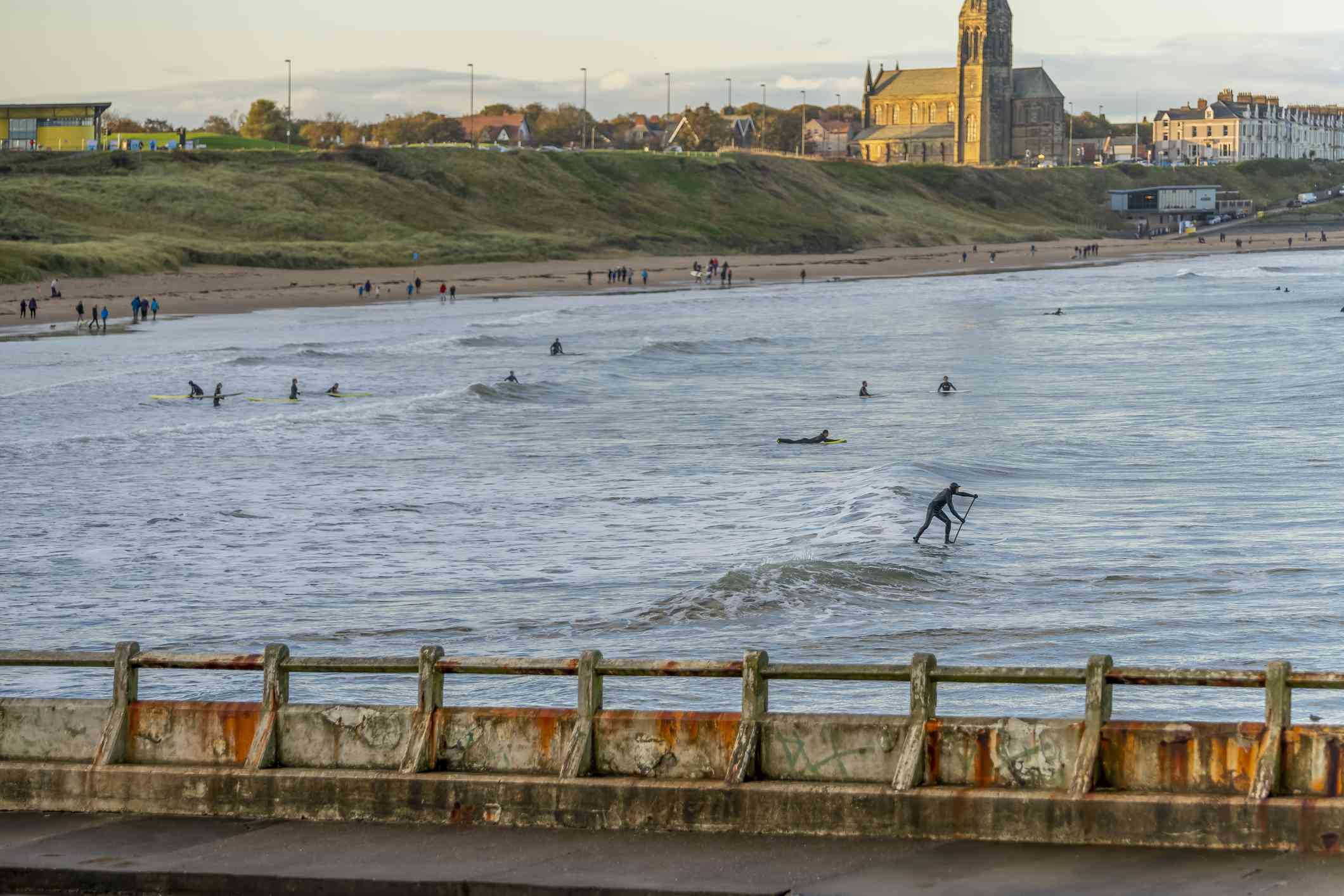 A view of Long Sands beach and Cullercoats from Tynemouth.