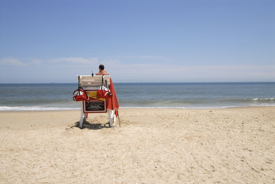 Lifeguard at Rehoboth Beach, Delaware