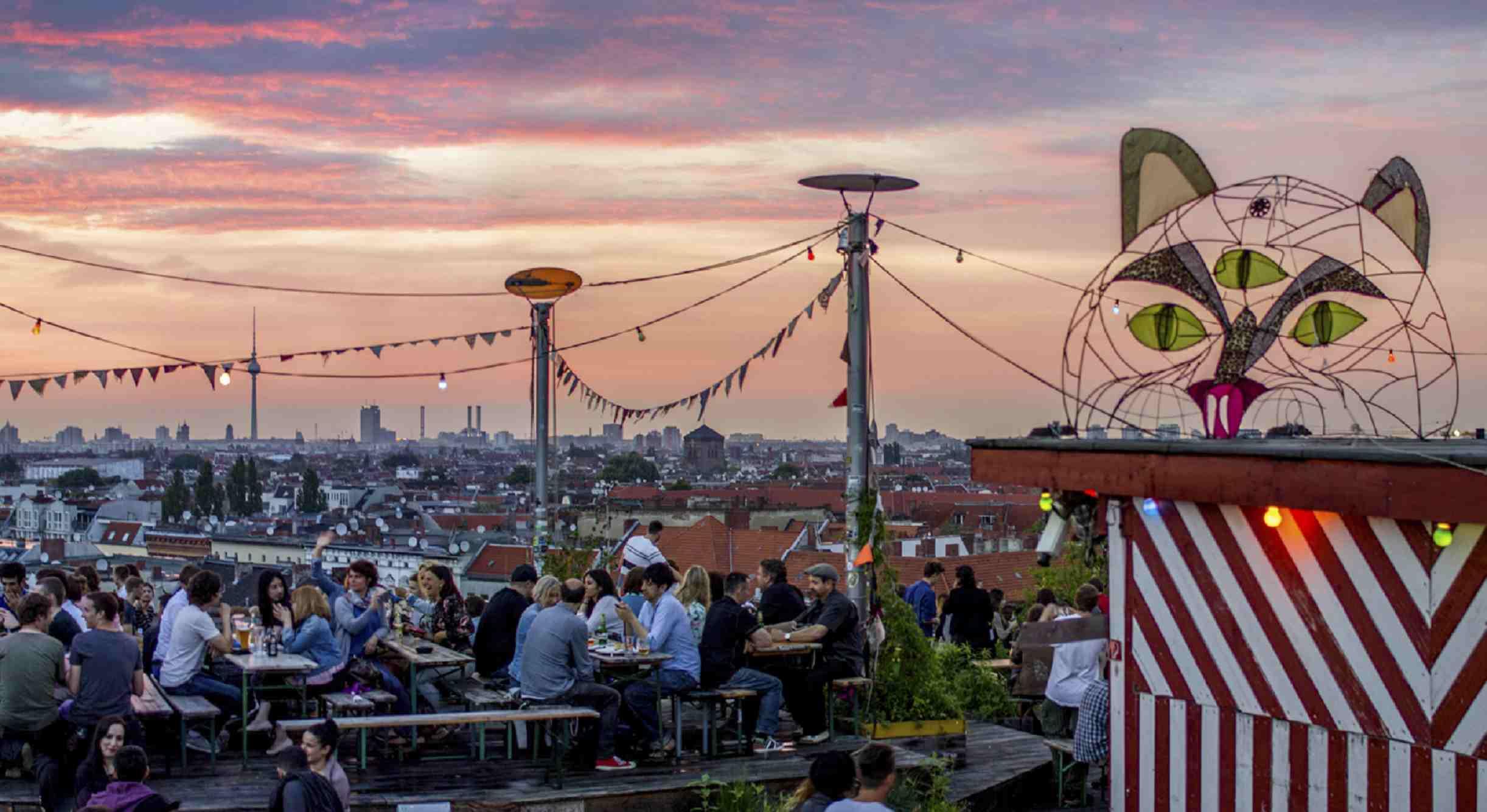 Klunkerkranich rooftop bar in Berlin