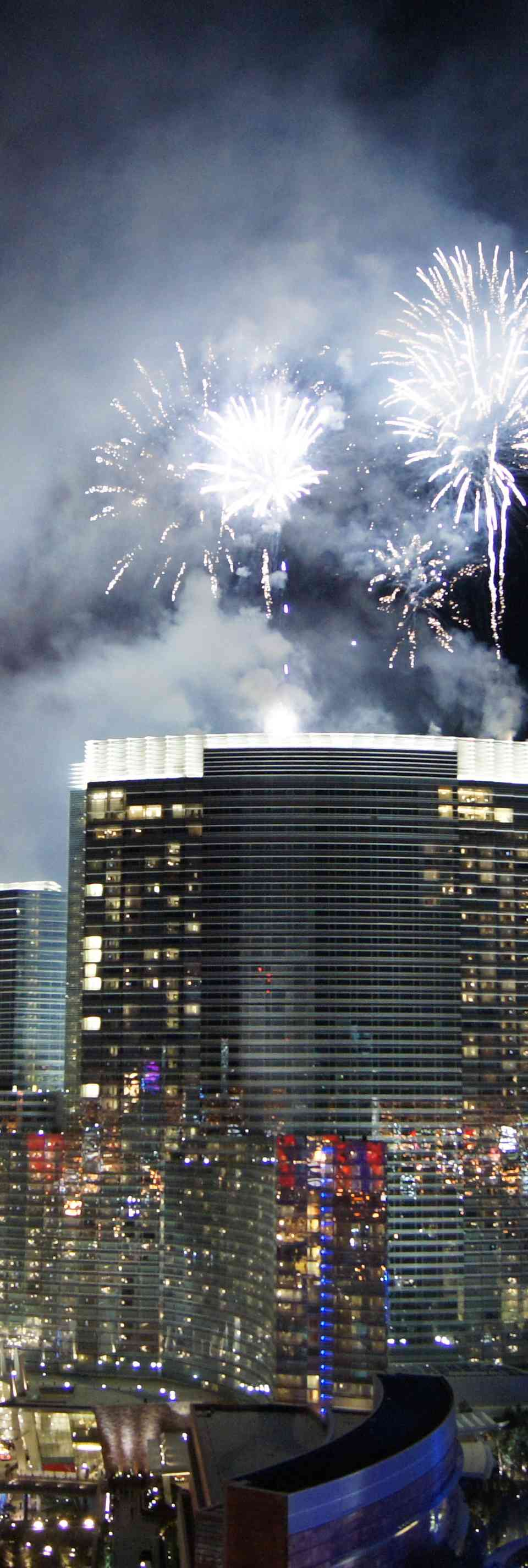 New Year's fireworks over Las Vegas