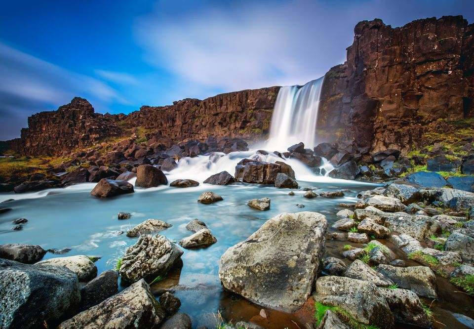 Oxararfoss waterfall, Thingvellir National Park, Iceland