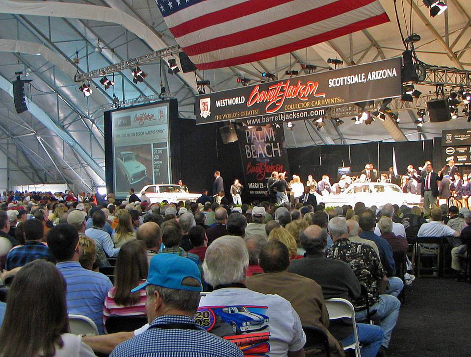 At the Barrett-Jackson Classic Car Auction