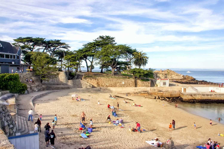 Lovers Point Beach Near Monterey