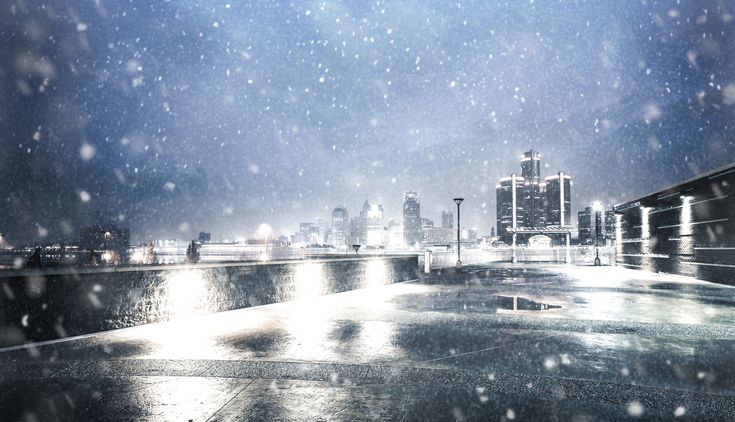 Image result for snowy detroit area