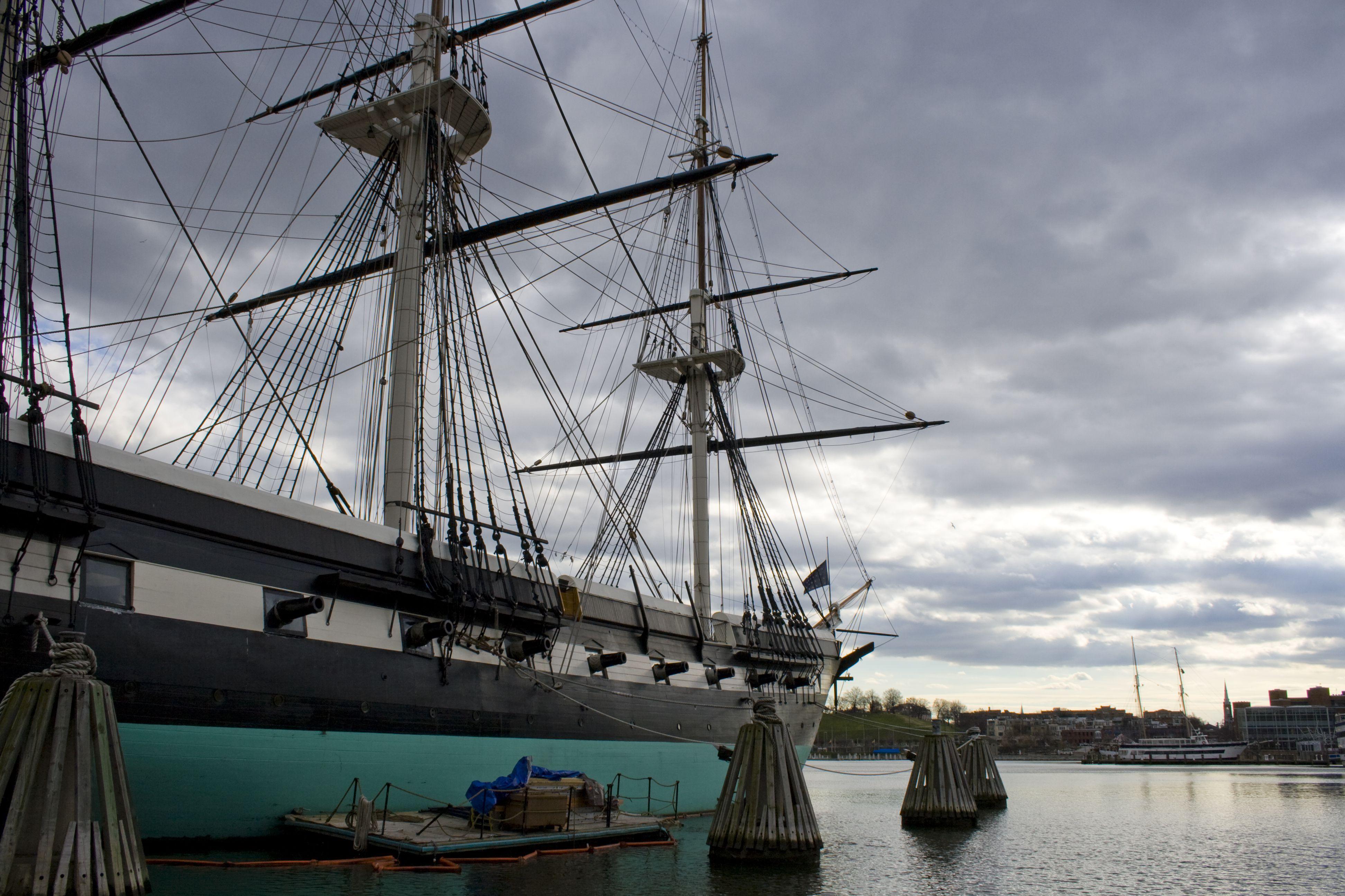 old sailing ship at Baltimore's inner harbor
