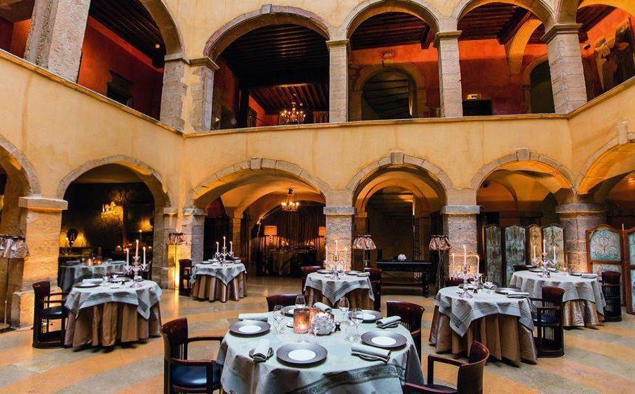 Restaurant at the Cours des Loges Hotel, Lyon