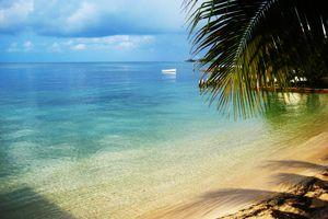 A bay in Utila an island in the Bay Islands