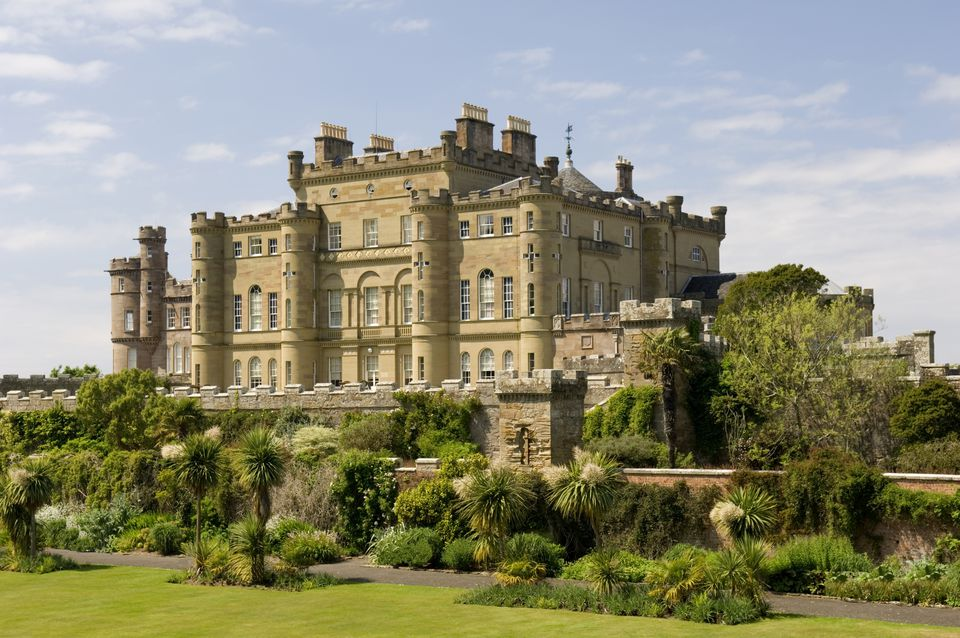 Culzean Castle with trees and bushes
