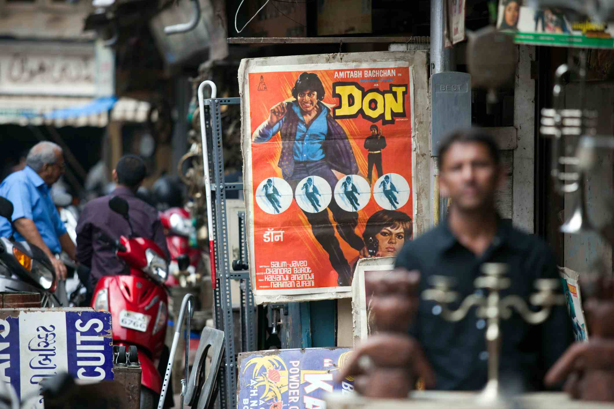 Bollywood poster at Chor Bazaar.