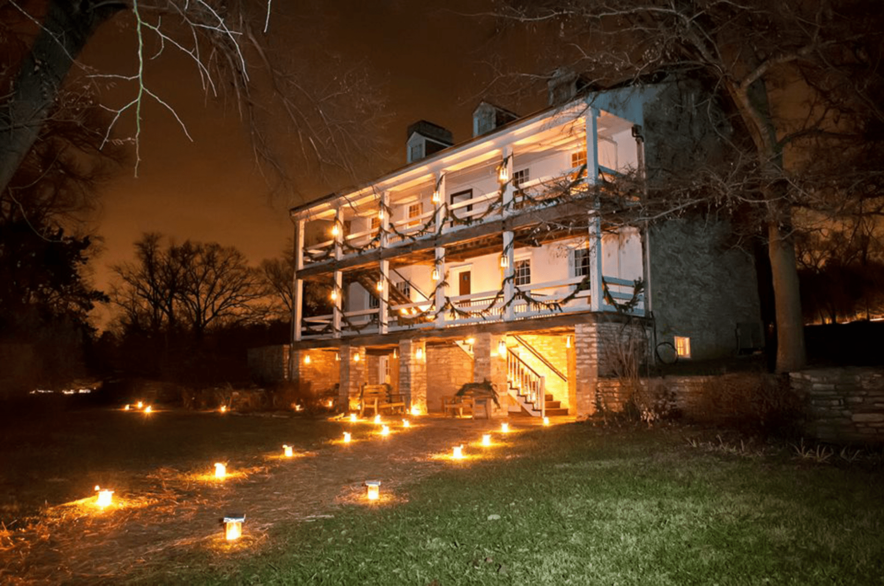 Christmas Candlelight Tour at Daniel Boone Home
