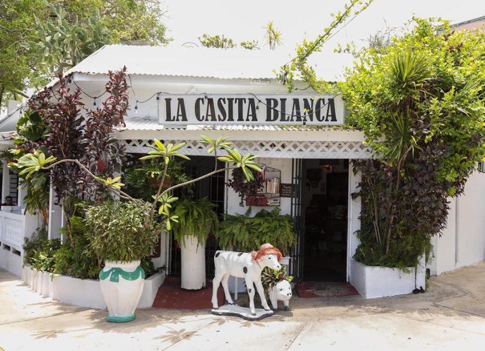 Exterior of La Casita Blanca