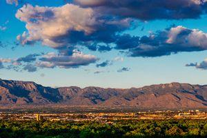 Panorama of Albuquerque Skyline and Sandia Peak