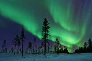 Aurora Borealis Northern Lights in Sweden