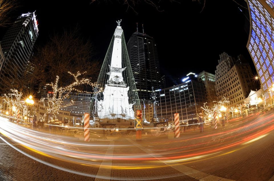 The Christmas Tree at Monument Circle. - Monument Circle Christmas Lighting Ceremony