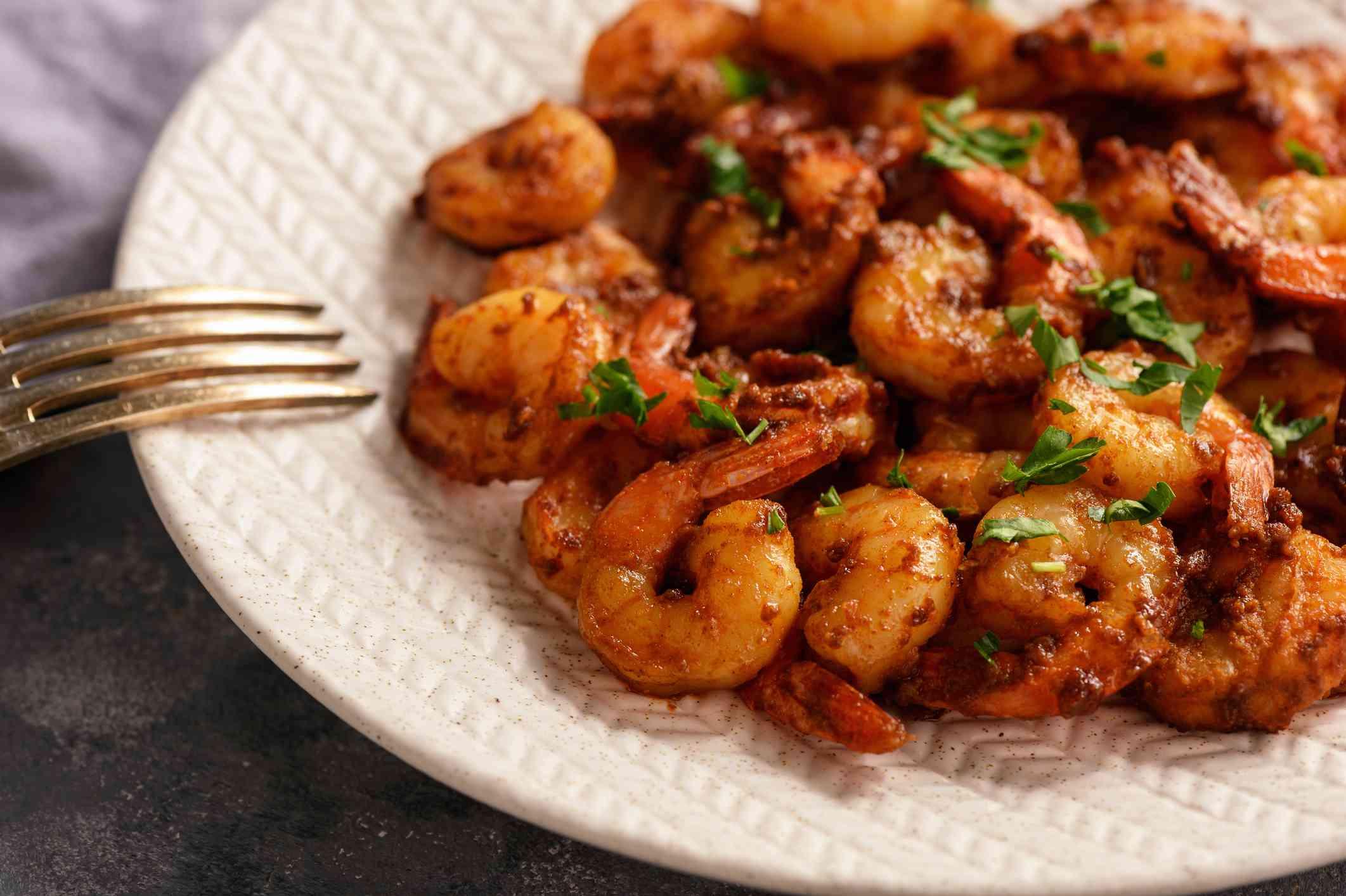 Spicy Moroccan shrimp