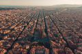 Barcelona city skyline, Spain