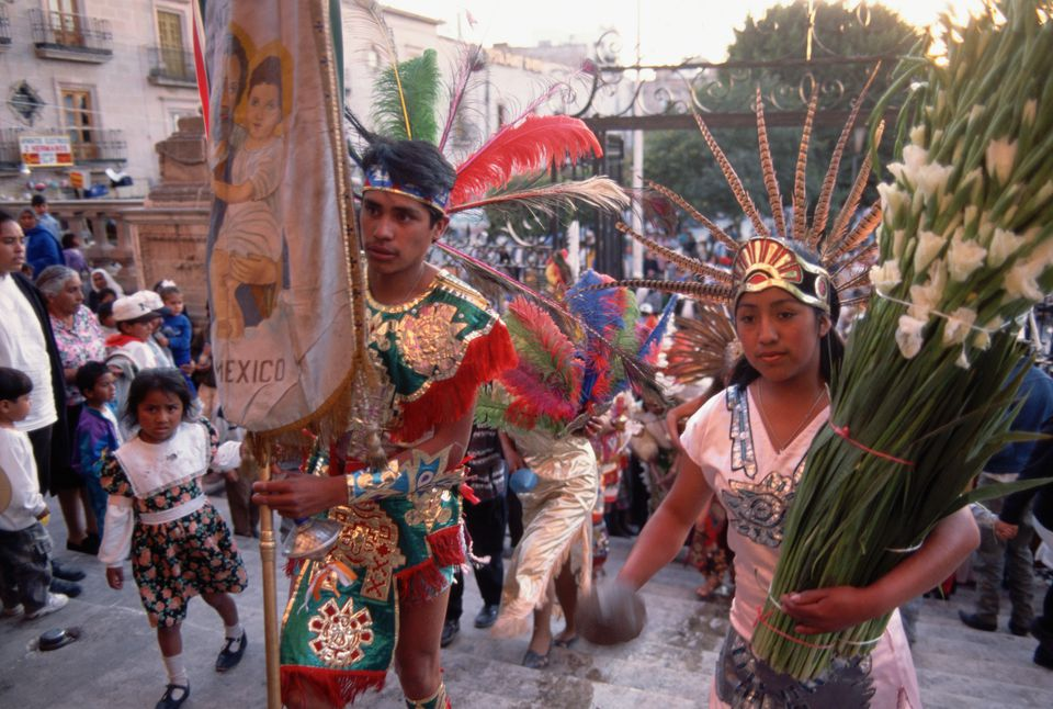 Aztec Youth in Candlemas Procession