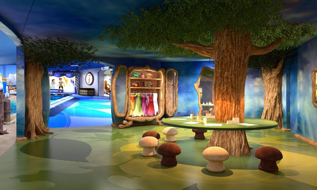 Oceaneer Club on Disney Dream cruise ship - Pixie Hollow