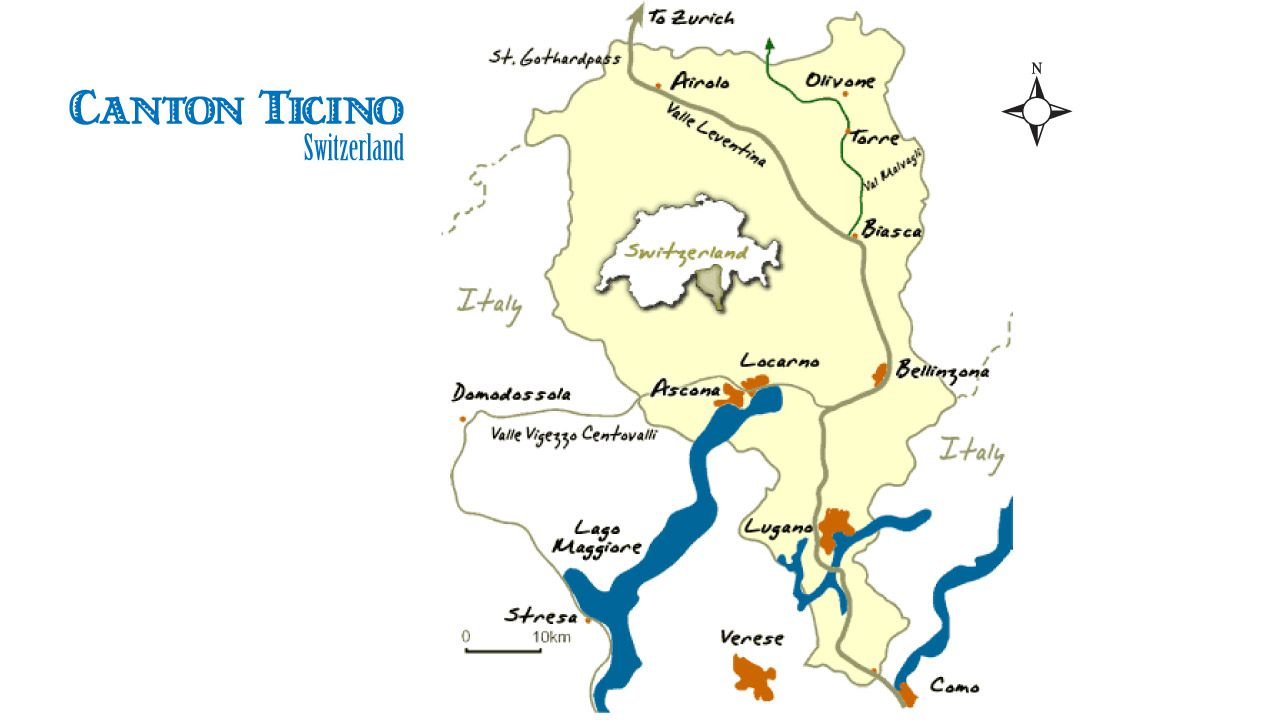 Ticino, Switzerland Map and Travel Guide