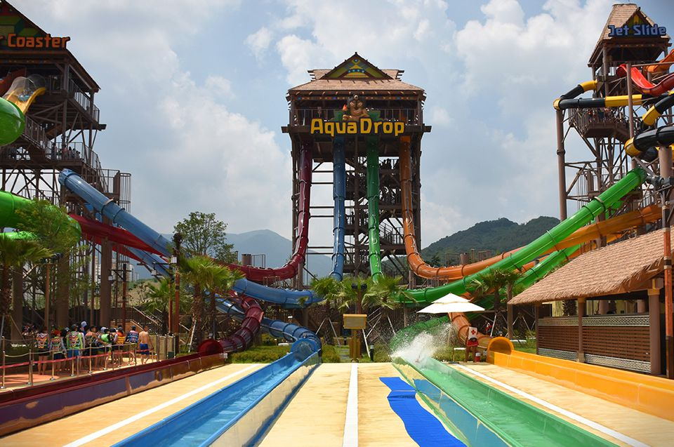 Lotte Gimhae Waterpark in Korea
