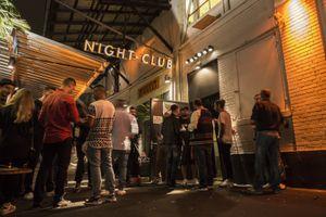 A nightclub entrance in Zurich