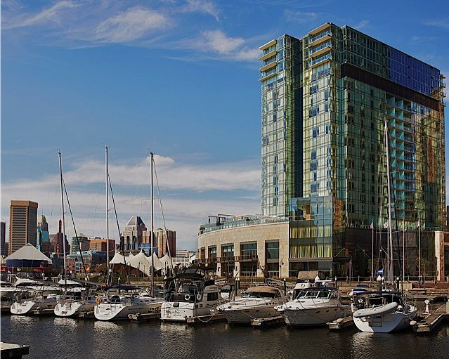 View of Four Seasons Hotel Baltimore and the Inner Harbor