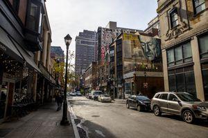 Scenic street in Philadelphia, PA