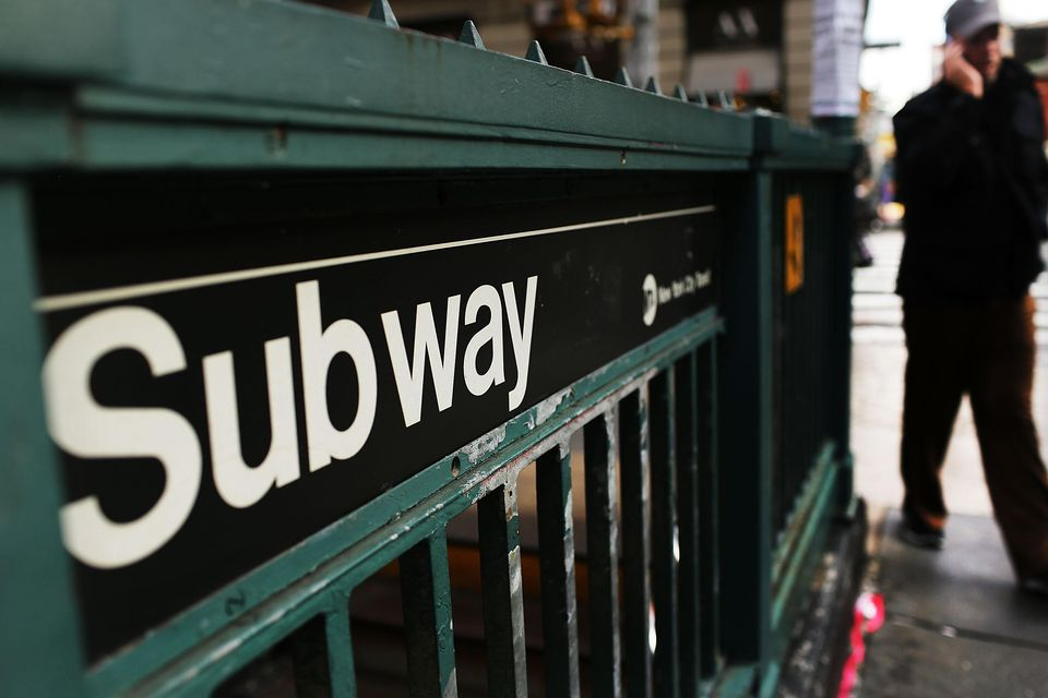 Subway station in New York City