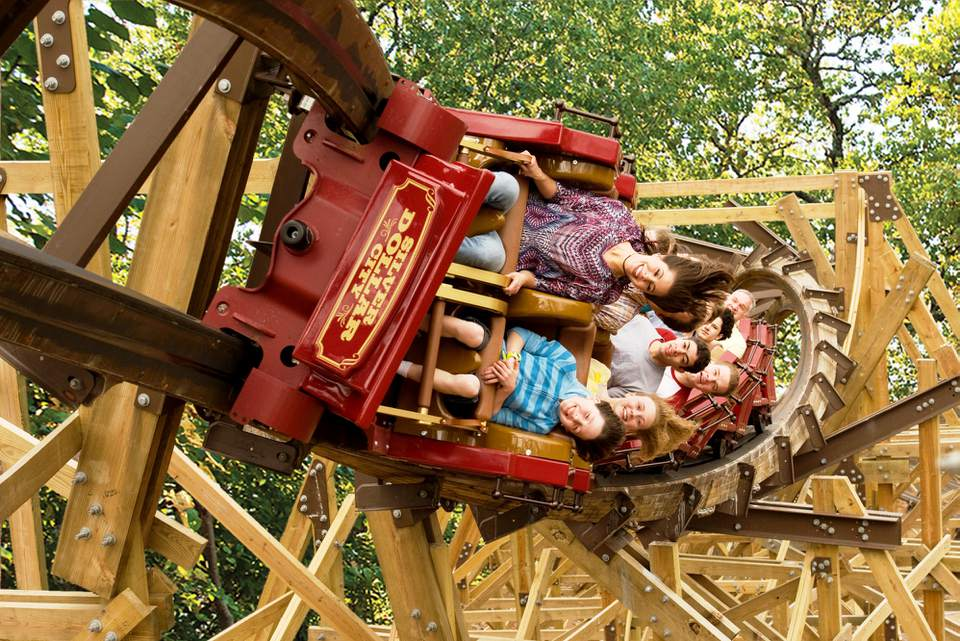 Outlaw Run coaster at Silver Dollar City
