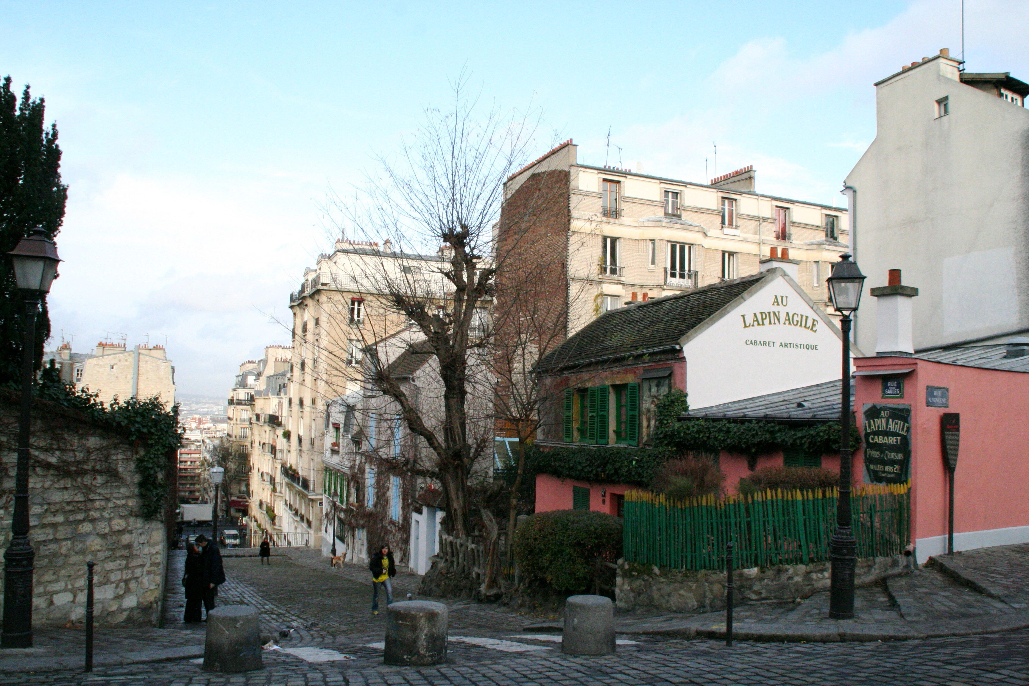 Au Lapin Agile as seen from Montmartre.