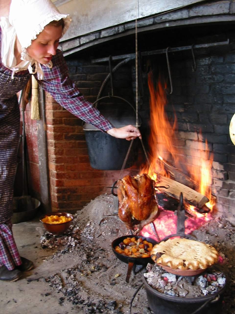 Cocinar carne picada - Old Sturbridge Village Acción de Gracias