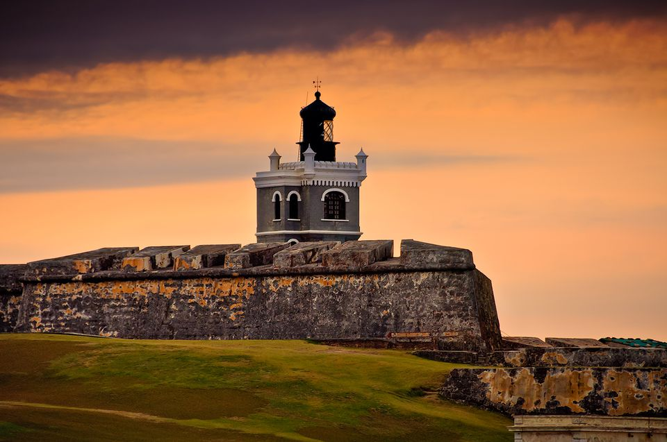 El Morro Fort at Sunset in Puerto Rico