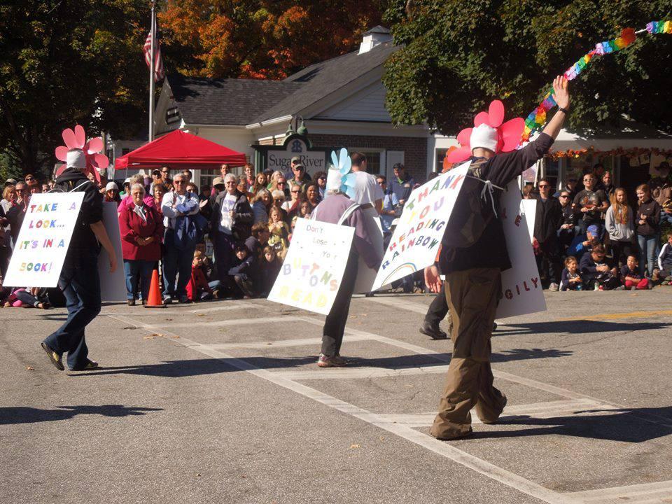 People walking in the Warner Fall Foliage Festival