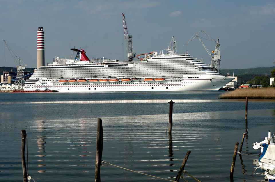 The Carnival Magic of Carnival Cruise Lines in Venice, Italy.
