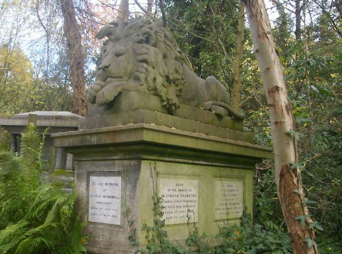 George Wombwell Grave, West Cemetery, Highgate Cemetery, London