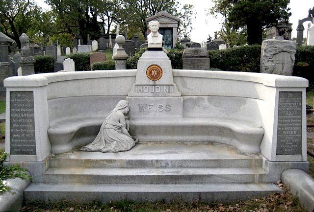 Tombstone of Harry Houdini in Queens