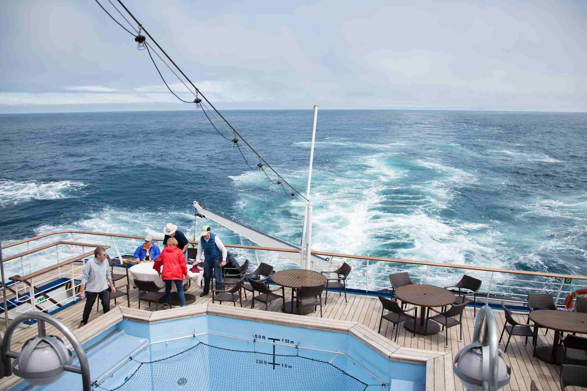 At sea on the Silver Discoverer cruise ship