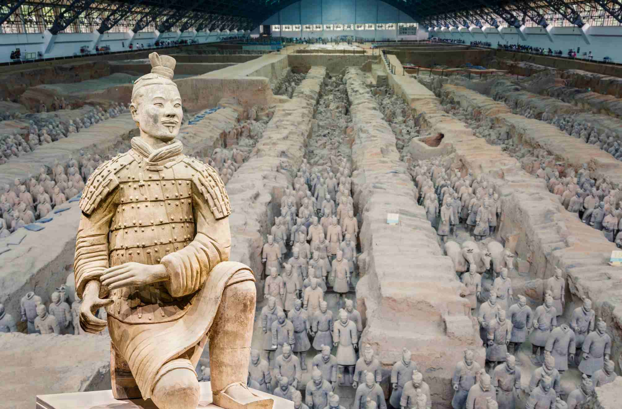 Terracotta army soldiers in Xian China