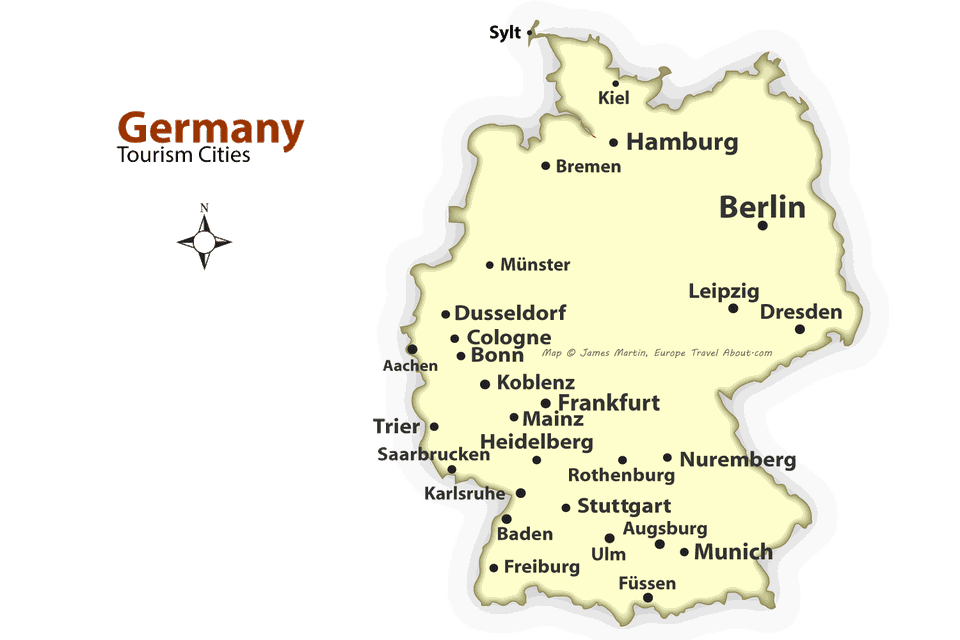 German Cities Map | Park Ideas
