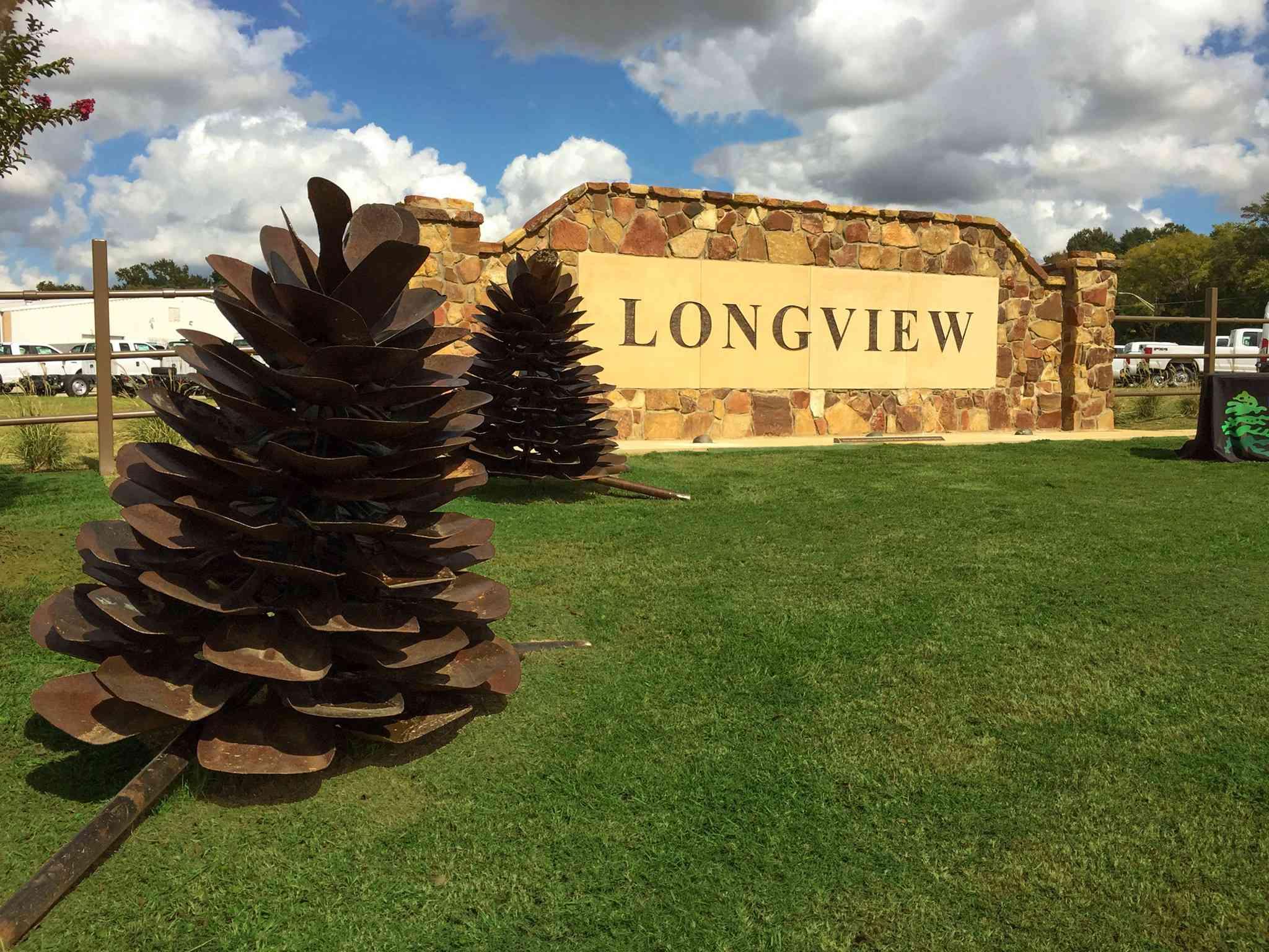 Letrero de rock Longview Texas