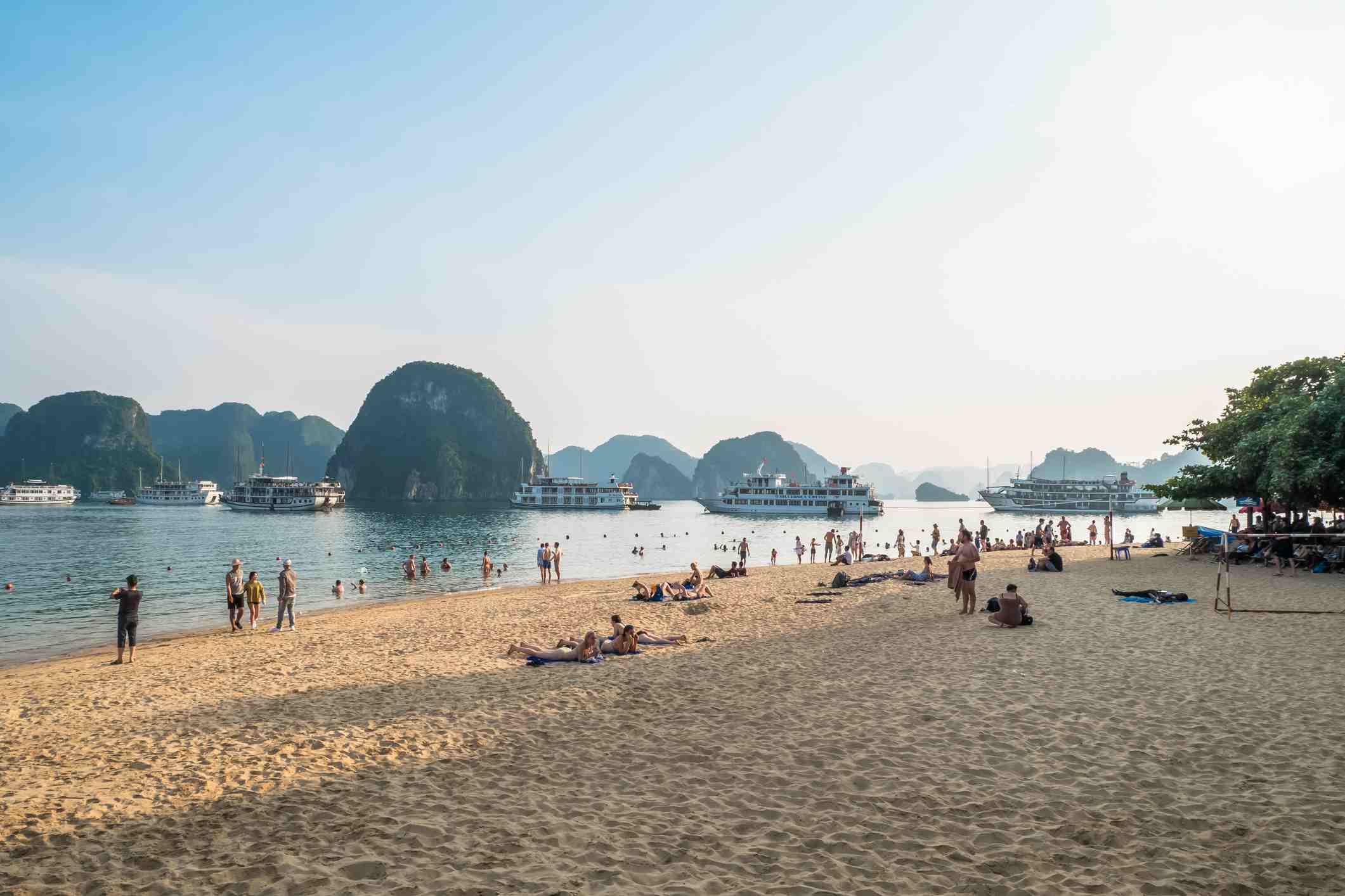 Beach on Ti Top Island, Ha Long Bay