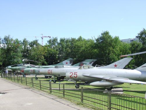 Military Airplanes at the Central Museum of Armed Forces in Moscow, Russia