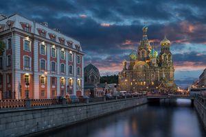 St. Petersburg, Russia, at dusk